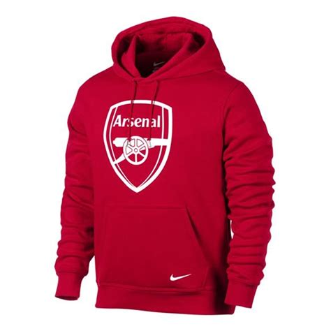 arsenal hoodie nike club arsenal core soccer hoodie artillery red white