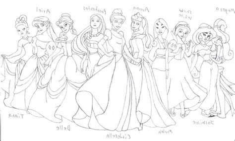 Printable Disney Princess Group Coloring Pages For Kids Disney Princesses Color Sheets Printable