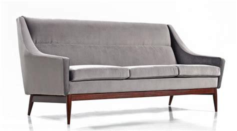 modern grey velvet sofa mid century modern danish teak and grey velvet sofa 1950s