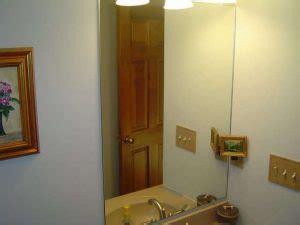 installing bathroom mirror installing a bathroom mirror