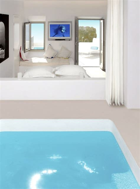 rooms with pools room with pool inside in grace hotel in santorini myhouseidea