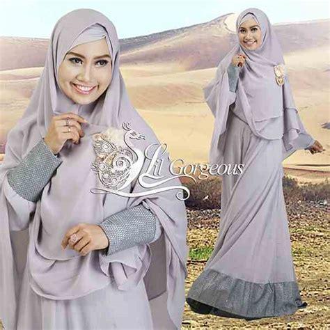 Laila Syar I Purple koleksi baju syar i terbaru gaun pesta muslim pusat