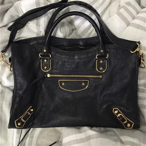 New Balenciaga City Metalic Edge Black Ghw balenciaga handbags city metallic edge black gold poshmark