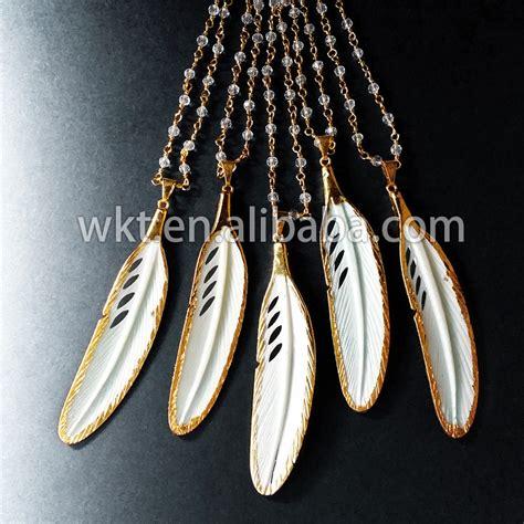 bone wholesale wt n405 wholesale white bone carved feather necklace