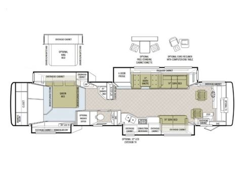 tiffin rv floor plans 2008 tiffin phaeton 42qrh photos details brochure