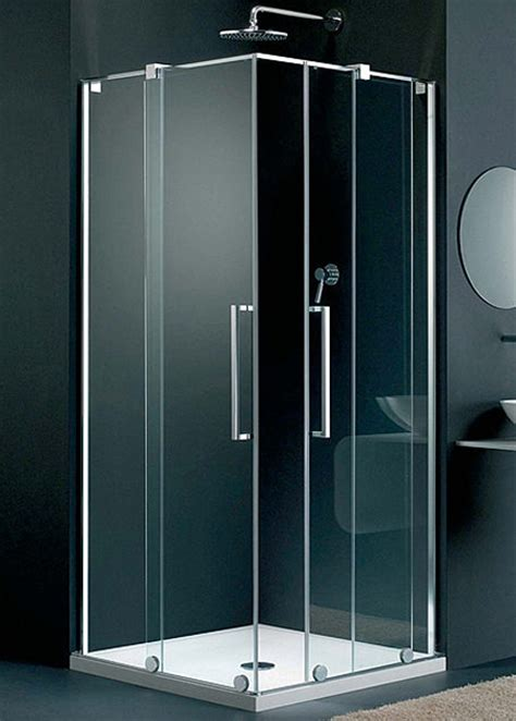 Lakes Italia Fabriano Sliding Door Corner Entry Enclosure 750mm Shower Door