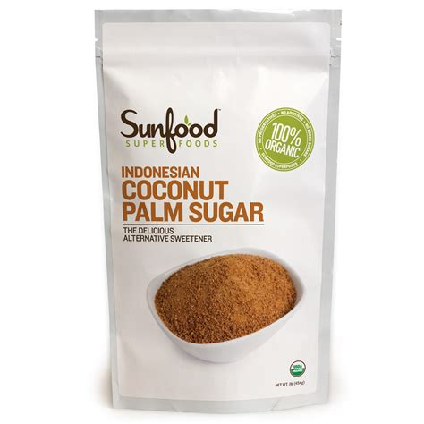 sunfood indonesian coconut palm sugar 454 g iherb com