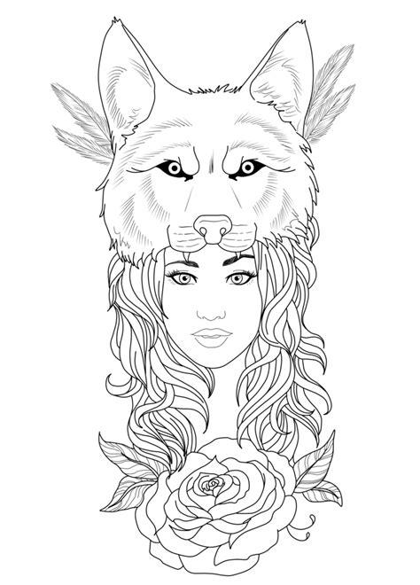 tattoo girl png tattoo design wolf girl by chronokhalil tattoo