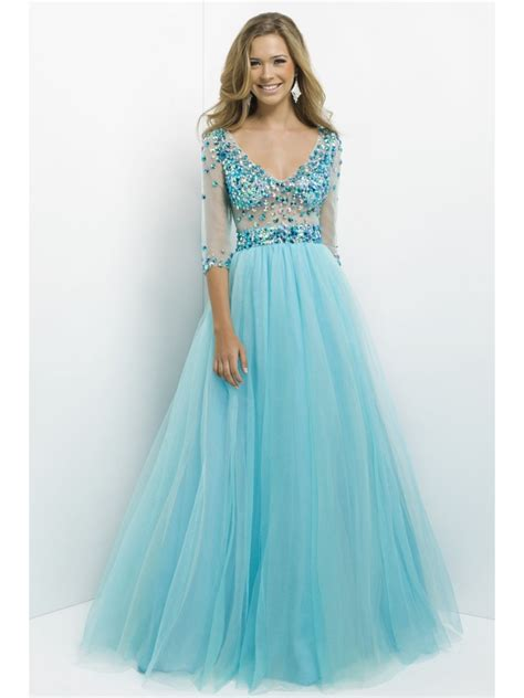 Beaded Sleeve Dress gown sleeves beaded prom evening formal dresses