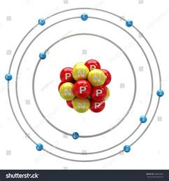 Neon Protons And Electrons Neon Atom On White Background Stock Illustration 338835863