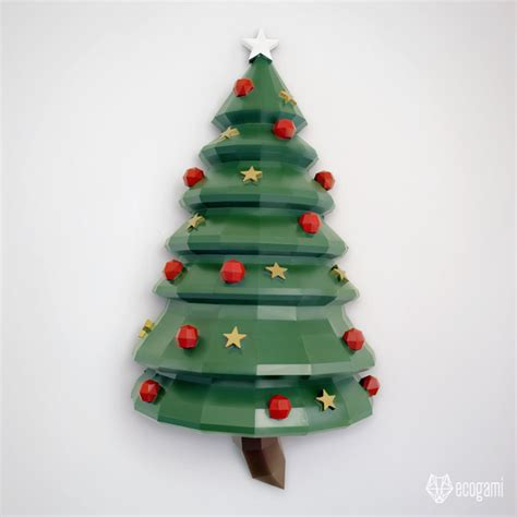 how to mount a chrismas tree make your own papercraft tree diy wall by ecogami on