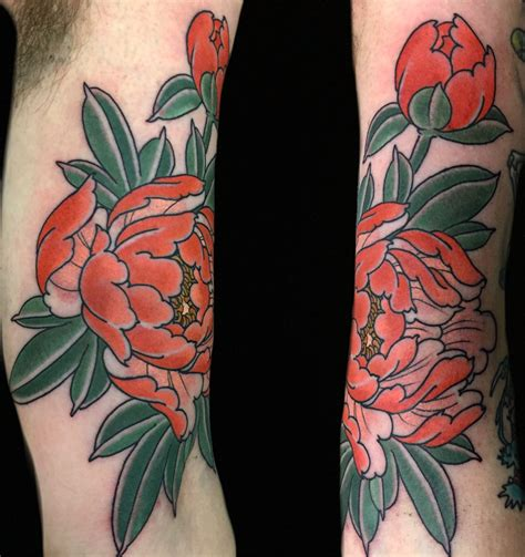 dark ages tattoo japanese style peony by maxwell seventh