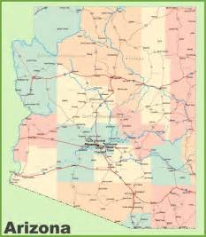 arizona state map cities arizona road map with cities and towns
