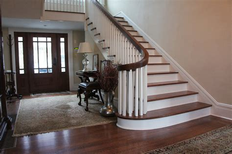 Refinish Banister Railing by Staircase And Handrail Repair Refinishing Replacement