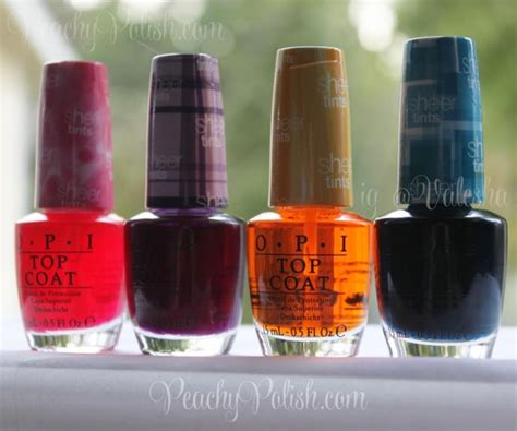 Opi Giveaway - opi sheer tints collection giveaway closed peachy polish