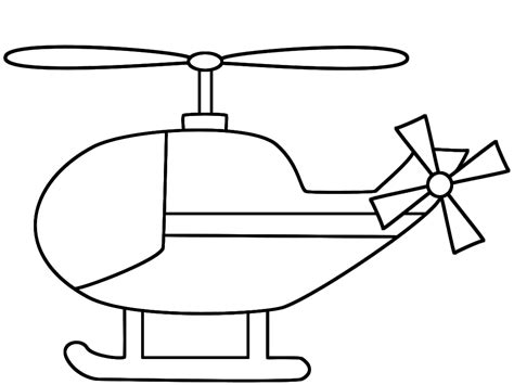 Preschool Helicopter Coloring Pages | helicopter coloring pages print color craft