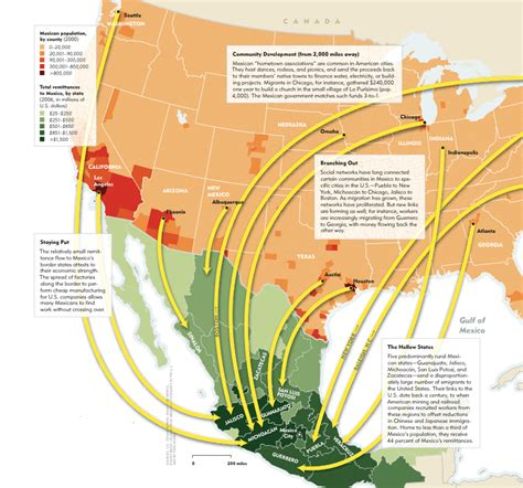 usa mexico border map mexican economic migration