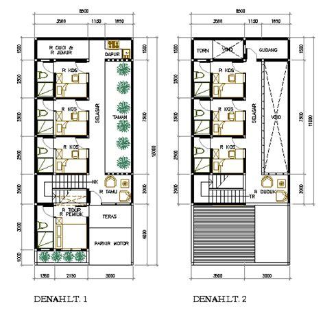 Layout Tempat Kost | rumah kost di lahan memanjang 6 5 m x 15 m eramuslim