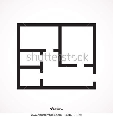 icon floor plans floor plan icon vector stock vector 430789966 shutterstock
