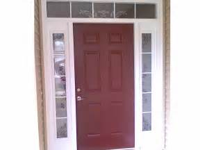 lowes entry doors with glass dark cherry wood front door with double white full length