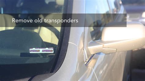 How To Install Express Toll Sticker installing your expresstoll transponders