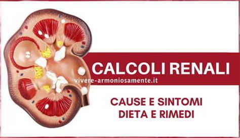 alimentazione e calcoli renali calcoli renali sintomi cause dieta e rimedi naturali