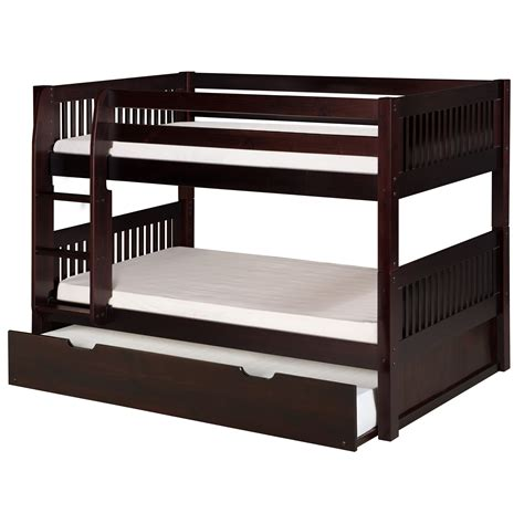 Camaflexi Camaflexi Twin Bunk Bed With Trundle Reviews Bunk Beds With Trundle