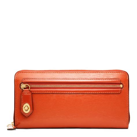 poppy wallet coach poppy accordion zip wallet in textured patent