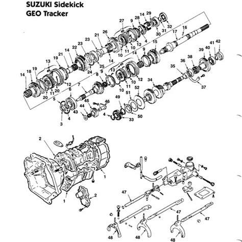 geo mv3 parts illustration manual transmission transmission schematic repair guides automatic