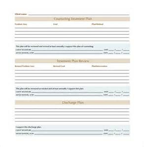 treatment sheet template sle treatment plan template 7 free documents in pdf