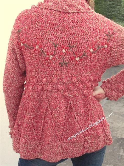 Floral Embroidery Coat winter crochet coat floral embroidery crochet