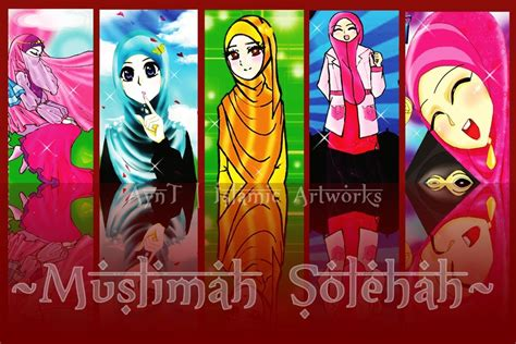 Kaos Anime Makes Me Happy You muslimah solihah by aynt 90 on deviantart