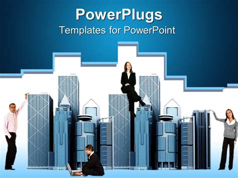 powerpoint template business people around office