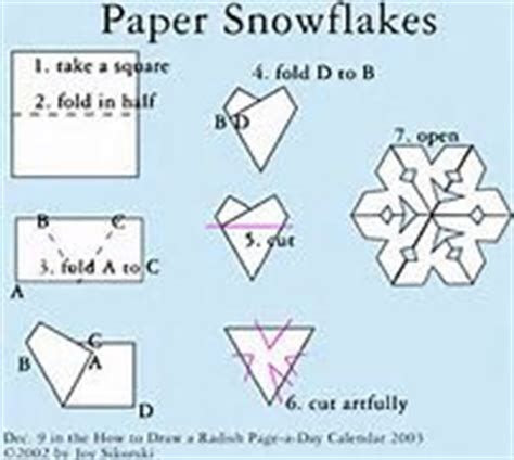 How Do You Make Snowflakes Out Of Paper - how to make a snowflake out of paper images