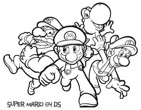 coloring pages nintendo nintendo coloring pages