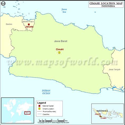 cimahi location  cimahi  indonesia map