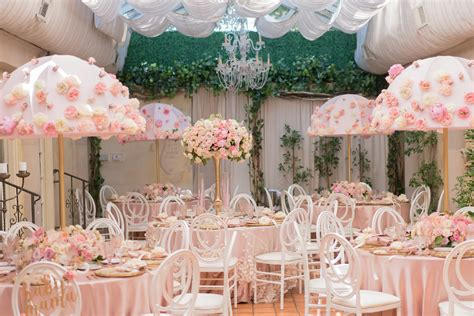 baby shower umbrella rental showered in blush baby shower at il cielo beverly
