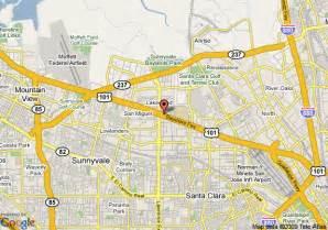 where is sunnyvale california on a map map of ramada inn sunnyvale sunnyvale