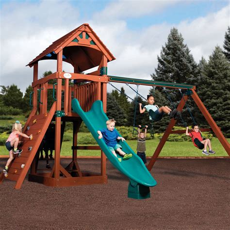 backyard adventures swing set adventure treehouse junior 2 by backyard adventures