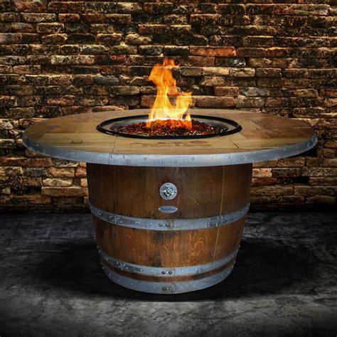 Enthusiast 42 Inch Wine Barrel Fire Pit Table By Vin De