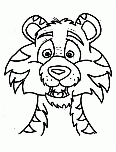 download a tiger head coloring pages or print a tiger head