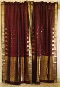 indian sari curtains myideasbedroom