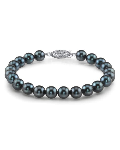 bead source buy 7 0 7 5mm akoya black pearl bracelet for 199 the