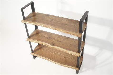 made walnut steel bookcase by bdagitz furniture