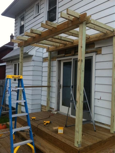 Diy Pergola Over Deck Again Probably Beyond My Skill Set Easy Diy Pergola