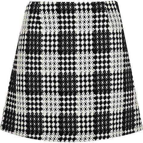 Black And White Line Skirt black and white check a line mini skirt mini skirts