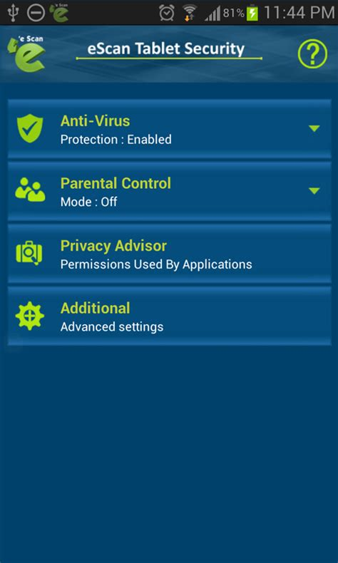 android apk free for tablet escan tablet security for android free apk android app android freeware