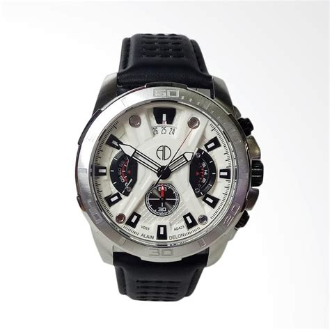 Jam Tangan Laurent Delon Quartz jual alain delon chronograph stainless steel leather