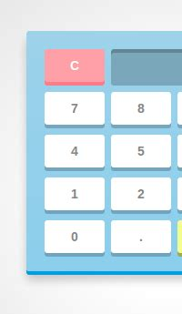 calculator using javascript and html make a calculator using javascript and css3