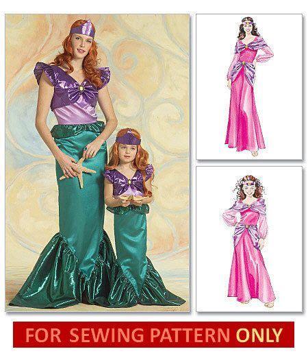 mermaid costume motif no size s ariel costume pattern mermaid retired sewing
